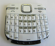 For Nokia C3 C3-00 External Number Keyboard Keypad Buttons White + Grey UK