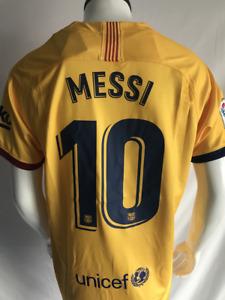 Messi #10 Barcelona 19/20 Season Away Football Shirt Soccer Men's Jersey