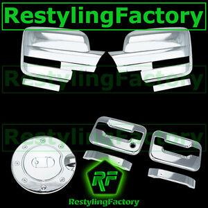 09-14 Ford F150 Chrome Mirror+2 Door Handle+no keypad+no PSG keyhole+Gas Cover