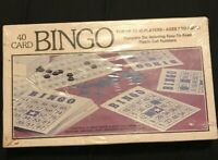 New Vintage 40 Card Bingo Complete Set 1981 Whitman 4709 Complete Set Easy Read