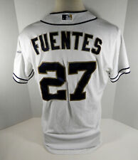 2014 San Diego Padres Reymond Fuentes #27 Game Issued White Jersey