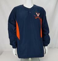 Nike FitDry Virginia Cavaliers Windbreaker Pullover Navy Blue/Orange Men's Large
