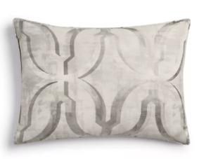 NWT Hotel Collection Primativa Pillow Sham Sandard Silver