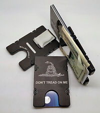 Dont Tread On Me, Aluminum Wallet/Credit Card Holder, RFID Protection, Black