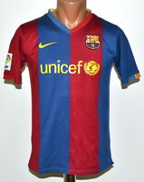 BARCELONA SPAIN 2006/2007 HOME FOOTBALL SHIRT JERSEY NIKE SIZE YL BOYS