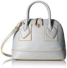 Anne Klein Atlas Billie Dome Satchel purse Medium Grey Handbag MSRP $98 New