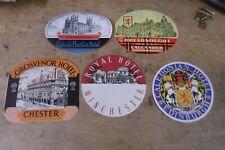 Group of 5 MINT, UNUSED Vintage Luggage Stickers-United Kingdom--GROUP 1