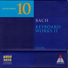 BACH 2000 VOL. 10: KEYBOARD WORKS II Cembalowerke. 11 CDs, sehr gut