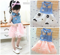 1pc baby clothes baby kids girls wedding party daily birthday princess dress