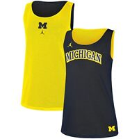 NEW Jordan Michigan Wolverines Nike Reversible Basketball Tank Top Womens Medium