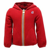 5298R giubbotto bimba girl K-WAY LILY DOUBLE felpa reversible orsetto jacket