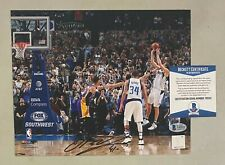 Dirk Nowitzki Signed 8x10 Photo Autographed Beckett BAS COA Dallas Mavericks