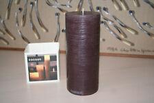 AMABIENTE COCOON_2 KERZE Candle Kaffee Braun rund Handgefertigt 80x190mm #8157