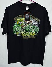 """Official 2015 Sturgis 75th """"THE LEGEND LIVES ON"""" Black T-Shirt Sz Med  NWT"""