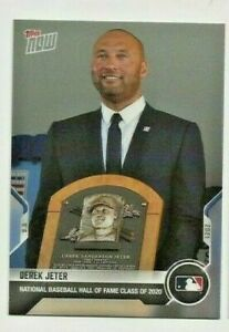 2021 DEREK JETER TOPPS NOW HALL OF FAME INDUCTION CARD  SP  YANKEES  MINT  LIVE