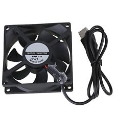 BQLZR Black 8cm 8025 USB Power Ball Bearing Computer Case Cooling Fan 5v 1300rpm