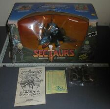Sectaurs Dargon Dragonflyer Action Figure Set Coleco w Box