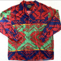 Polo Country Ralph Lauren Medium Red VTG Aztec Shirt  RRL Southwestern Serape