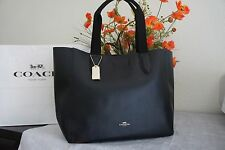 NWT Coach F58660 Derby Tote In Pebble Leather -Black/Oxblood