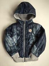 Diesel Jachio Boy's Blue 4 Years Reversible Zip Hoodie Jacket