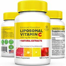 NATURE'S PASSION Liposomal Vitamin C 1700mg + natural extracts - 120 softgels