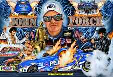 JOHN FORCE DRAG RACING ART PRINT 13 X 19