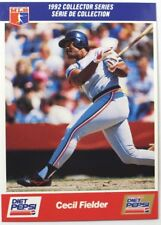 1992 Cecil Fielder Diet Pepsi Collector's Series Card # 13 of 30
