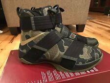Nike LeBron Soldier 10 SFG Camo Black Bamboo Olive 844378-022 Size 9.5
