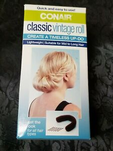 ConAir Classic Vintage Roll to Create a Timeless Up-Do Hairstyle