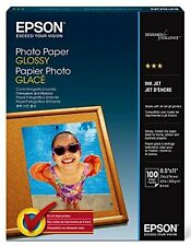 """High Quality Professional Photo Printer Paper Glossy 8.5x11"""" 100 Picture sheets"""