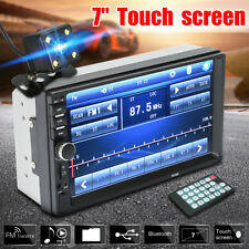 "7"" 2 Din Touch Screen Car MP5 MP3 Player Bluetooth Stereo FM Radio + Free Camera"