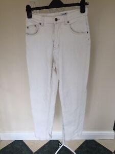 Womens Vintage Cream Denim Stretch Joie De Vivre Jeans , Size 12