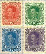EBS Austria 1917 Charles I Definitives Kaiser Karl I - Michel & ANK 221-224 MH*