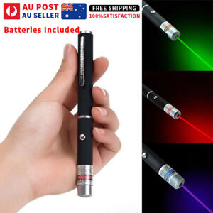Laser Pointer Pen Green Blue Purple Red Light Visible Beam Lazer Cat Toy