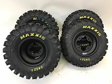 DWT A5 Black Wheels Rims Maxxis Razr 2 Tires Front/Rear XC Kit Raptor 700 YFZ450