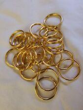 "1 "" Gold Standard Key Rings Split Ring Style Lot of 40"