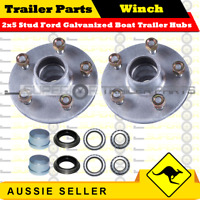 Superior Galvanized Boat Trailer Hubs 5 Stud Ford With Bearings - HLFSLG