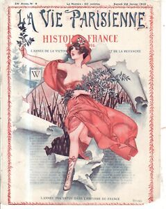 1916 La Vie Parisienne Original French art cover of French wars by Herouard