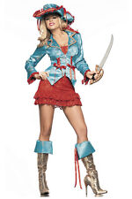 S/M/L Be Wicked Sexy Pirate Costume Dress Hat Jacket Sword & Boot Toppers Set
