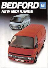 BEDFORD MIDI gamma Van & Minibus 1985 ORIGINALE UK vendita opuscolo PUB. NO. B2201