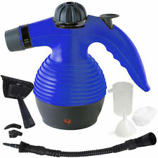Hand Held Steam Cleaner Blue Hygiene Bacteria Kill Grease Dirt Inc Attachments