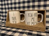 Rae Dunn I PURR YOU YOU HAD ME AT MEOW - CAT Lover Ceramic Coffee Mugs Gift Set