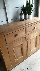 ☆ Gorgeous Antique Vintage Pine Sideboard/Cupboard - Free Delivery ☆