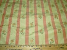 """~25 YDS~100% SILK~""""AVIGNON"""" FLOWERS~EMBROIDERED~UPHOLSTERY FABRIC FOR LESS~"""