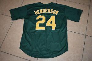New! Rickey Henderson Green A's Oakland Athletics Baseball Jersey Adult Men's XL