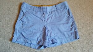 """Womens Shorts-J. CREW-blue 100% cotton """"Broken-In Chino"""" flat front-4"""