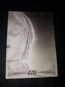Star Wars Sketch Card By Karl Jones