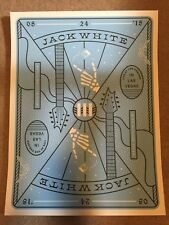 Jack White Poster The Chelsea Las Vegas, Nv 8/24/18 Blue 8 of Clubs