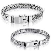 "Men Heavy Bracelet 925 Solid Sterling Silver Bangle Gift Size 7 7.5 8 8.5 9 10"""