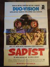 "The sadist  - Original TURKISH movie poster 39x27"" -"